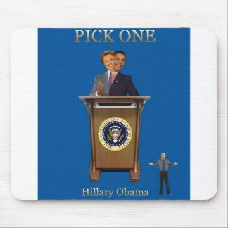 hillary obama mouse pad