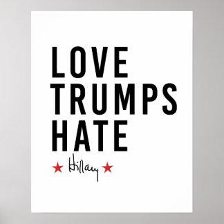 Hillary - odio de los triunfos del amor - póster