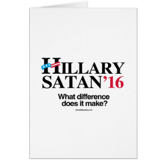 Hillary or Satan Stationery Note Card