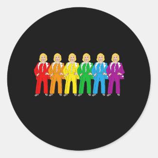 Hillary Pantsuit Pride - Classic Round Sticker