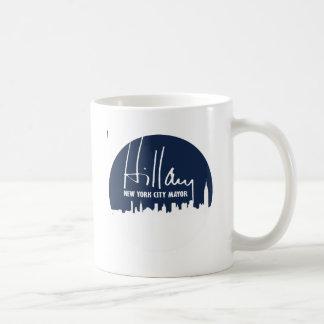 HILLARY PARA EL ALCALDE DE NEW YORK CITY - .PNG TAZA BÁSICA BLANCA