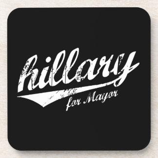 HILLARY PARA el blanco de ALCALDE JERSEY - .png Posavasos