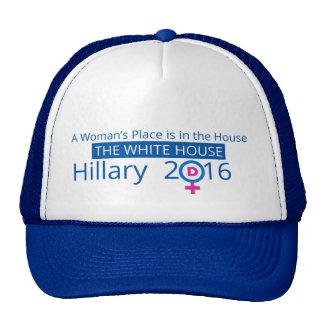 Hillary para el gorra del presidente béisbol
