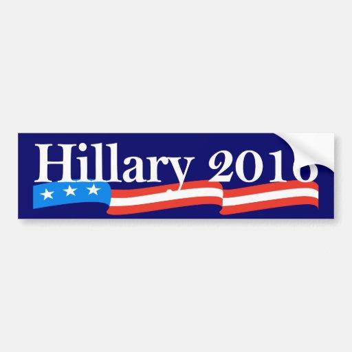 Hillary para el presidente 2016 etiqueta de parachoque