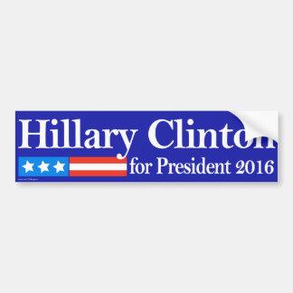 Hillary para el presidente 2016 pegatina para auto