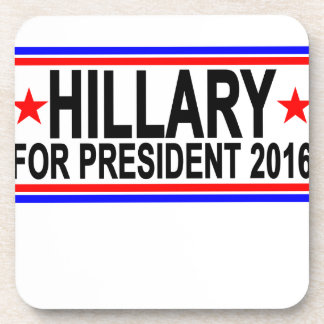 Hillary PARA el PRESIDENTE 2016 camisetas .png Posavasos De Bebidas