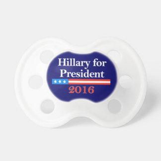 Hillary para el presidente 2016 chupetes para bebés