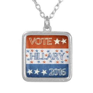 Hillary para el presidente 2016 colgante cuadrado