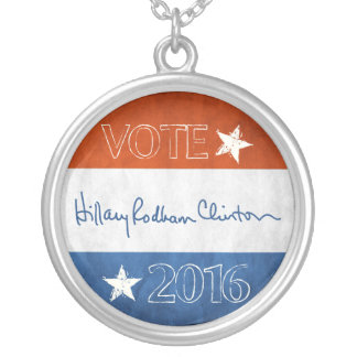 Hillary para el presidente 2016 colgante redondo