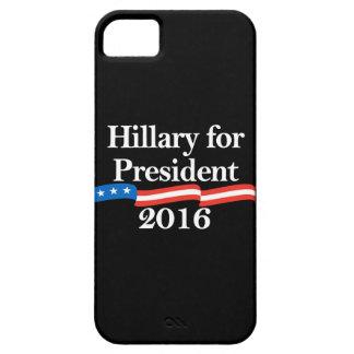 Hillary para el presidente 2016 iPhone 5 Case-Mate cobertura