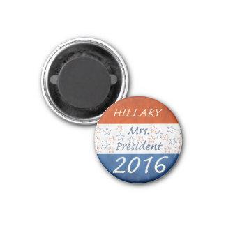 Hillary para el presidente 2016 imán redondo 3 cm