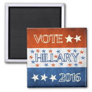 Hillary para el presidente 2016 imán cuadrado
