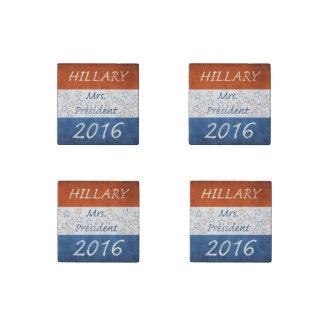 Hillary para el presidente 2016 imán de piedra