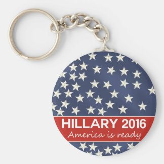 Hillary para el presidente 2016 llavero redondo tipo pin