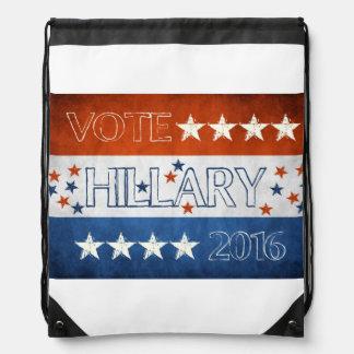 Hillary para el presidente 2016 mochilas