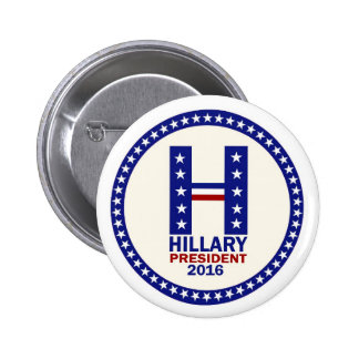 Hillary para el presidente 2016 pin redondo 5 cm