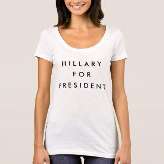 Hillary para el presidente 2016 playera