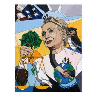 Hillary para el presidente 2016 postales