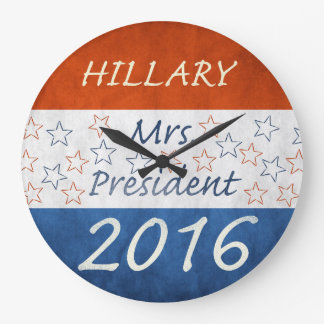 Hillary para el presidente 2016 reloj redondo grande