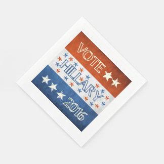Hillary para el presidente 2016 servilletas desechables