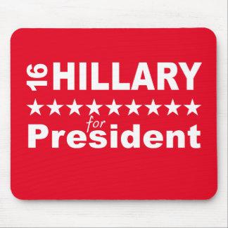 Hillary para el presidente 2016 alfombrilla de ratón