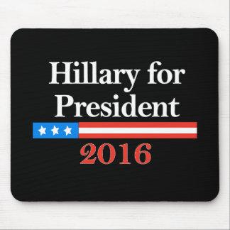 Hillary para el presidente 2016 alfombrillas de ratón