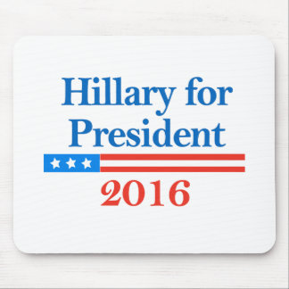 Hillary para el presidente 2016 alfombrilla de ratones