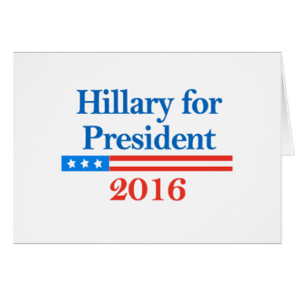 Hillary para el presidente 2016 tarjetas