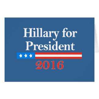 Hillary para el presidente 2016 felicitacion