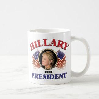 Hillary para el presidente 2016 taza