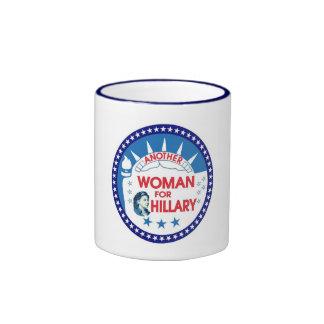 Hillary para el presidente 2016 taza de dos colores