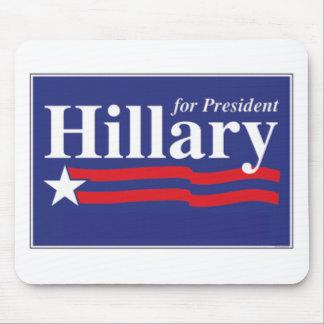 ¡Hillary para el presidente Alfombrilla De Ratones