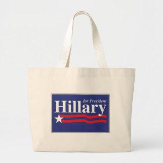 ¡Hillary para el presidente! Bolsa Tela Grande