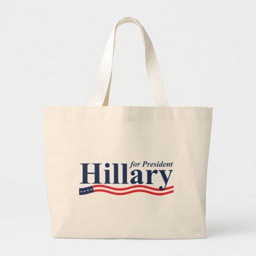 Hillary para el presidente bolsas