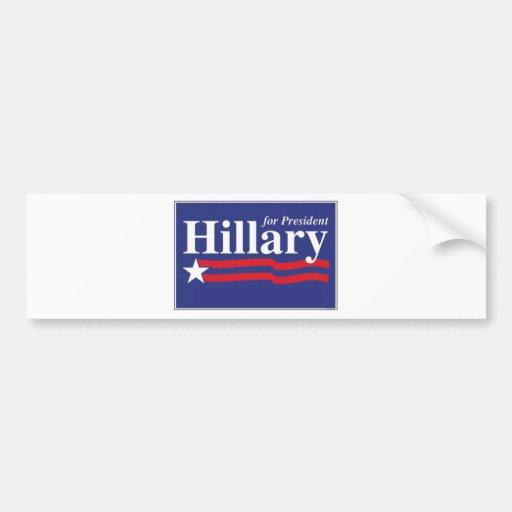¡Hillary para el presidente! Pegatina De Parachoque