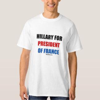 Hillary para el presidente de Francia Poleras