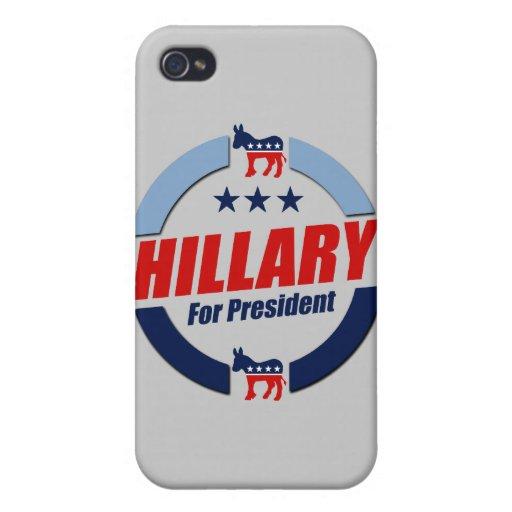 HILLARY PARA el PRESIDENTE DEMOCRATS.png iPhone 4 Carcasa
