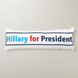 Hillary para el presidente (elija su propio color) cojin cama