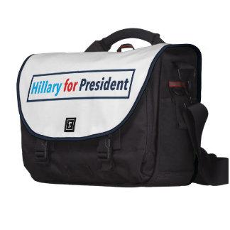 Hillary para el presidente (elija su propio color) bolsas de ordenador