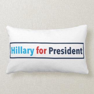 Hillary para el presidente (elija su propio color) almohada