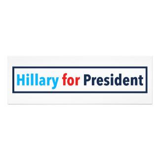 Hillary para el presidente (elija su propio color) cojinete