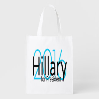 Hillary para el presidente en 2016 bolsa reutilizable