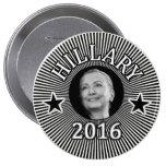Hillary para el presidente en 2016 pin