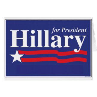 ¡Hillary para el presidente! Felicitaciones