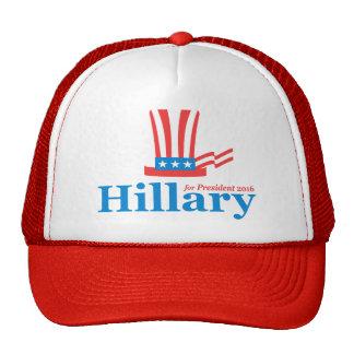 Hillary para el presidente gorra