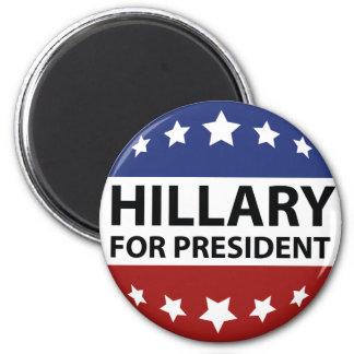 Hillary para el presidente imán redondo 5 cm