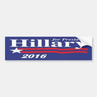 Hillary para el presidente pegatina para el parach etiqueta de parachoque