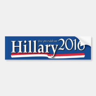 Hillary para el presidente pegatina para el pegatina para auto