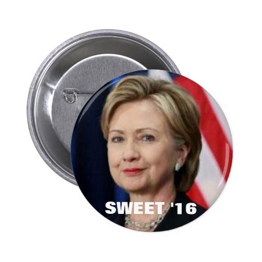 Hillary para el presidente pin