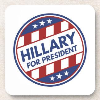 Hillary para el presidente posavasos